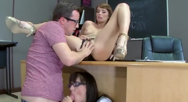 Teacher has three..
