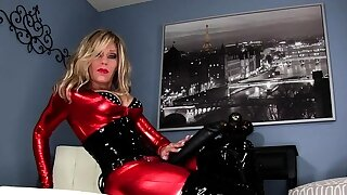 Latex Lucy is clad..